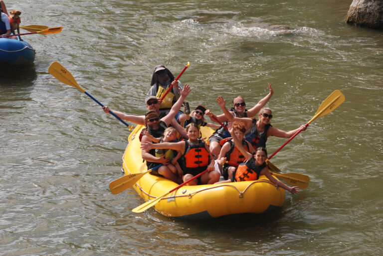 Group in Raft on Weber River