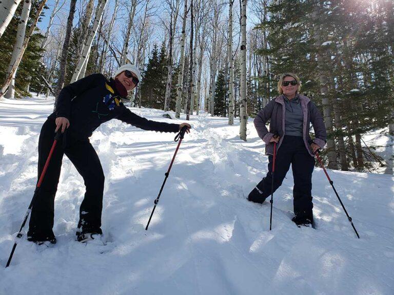 2 Women on Snowshoe Tour