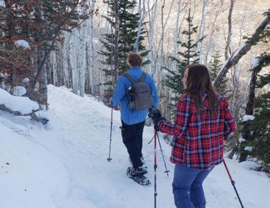 Snowshoeing Park City, Utah