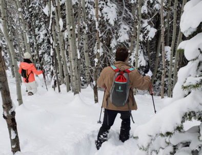Snowshoeing powder