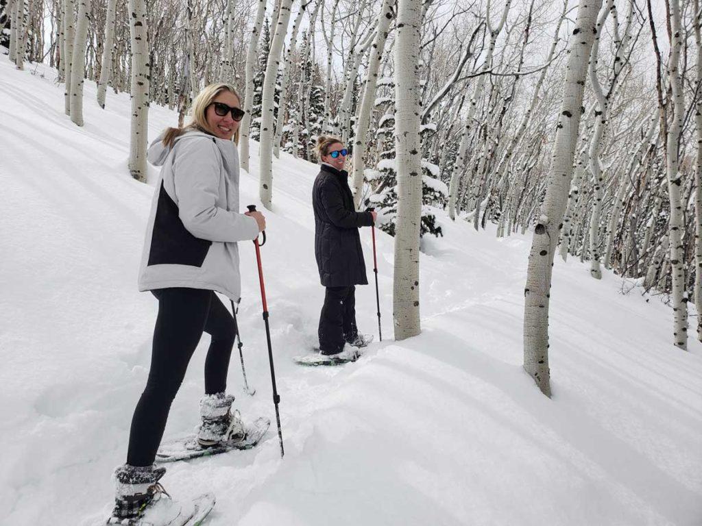 Women-Snowshoeing-Park-City-Aspens-1